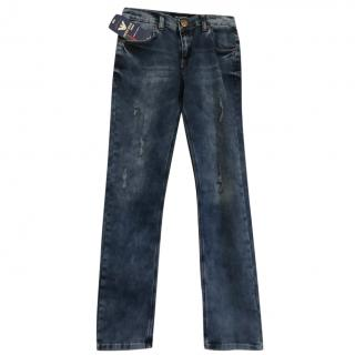 Emporio Armani boy's distressed jeans