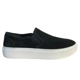 Rebecca Minkoff Nene black suede slip-on trainers