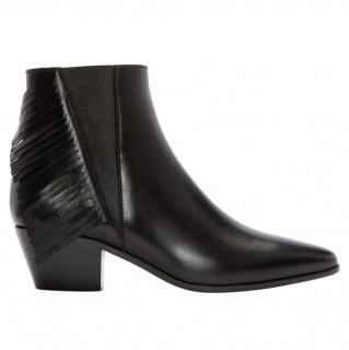 Saint Laurent fringed leather ankle boots
