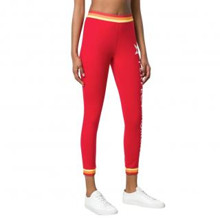 Perfect Moment red logo leggings