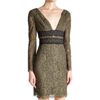 Diane von Furstenberg Viera green-lace dress