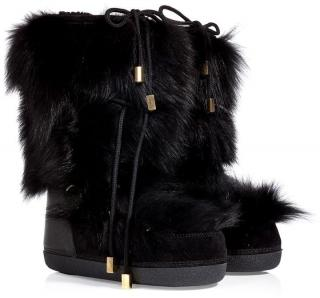 DSquared Fox Fur Snow Boots