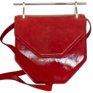 M2Malletier Amor Fati red-glitter patent leather bag