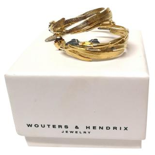 Wouters & Hendrix Gold Vermail Bamboo Earrings