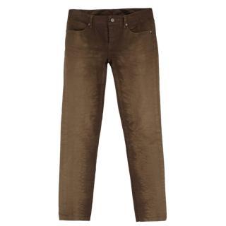Burberry Kensington Khaki Slim Leg Jeans