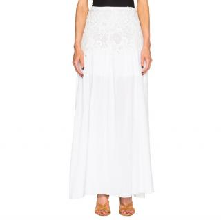 See By Chloe 'Cloud Dancer' White Maxi Skirt