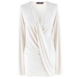Donna Karan Cream Wrap Style Blouse