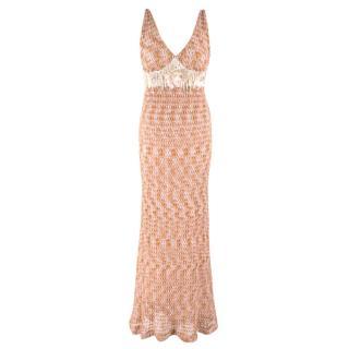 Missoni Sleeveless Knit Embellished Gown