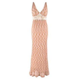 Missoni Sleeveless Knit Embellished Gown