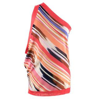 Missoni Striped One-Shoulder Draped Top