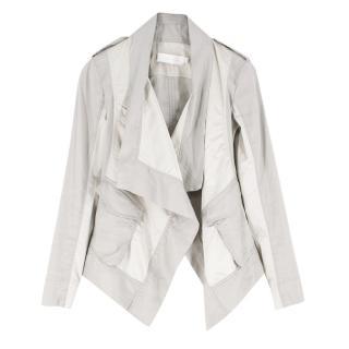 Donna Karan metalic draped jacket