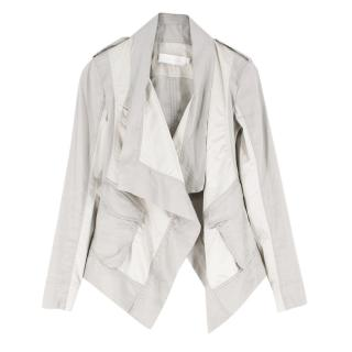 Donna Karan metalic draped jacket