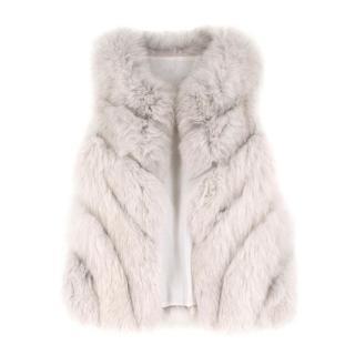 Bespoke Grey Fox Fur Gilet