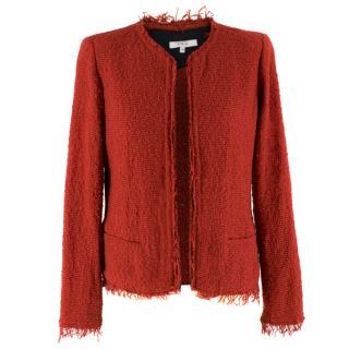IRO Shavani red boucl� jacket