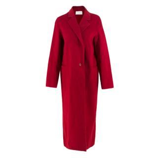 Sandro Red Wool Blend Coat