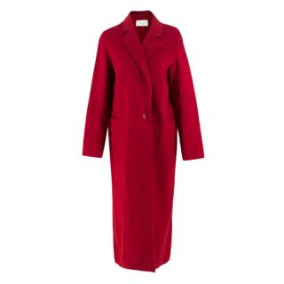 Sandro Red Wool Blend Coat