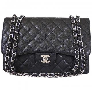 Chanel Caviar leather Timeless Double Flap Bag