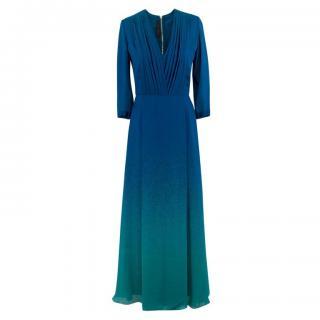 Elie Saab two-tone silk dress