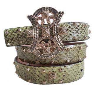 Valentino phyton studded belt