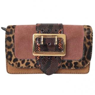 Burberry 'The Walden' Leopard-Print & Snakeskin Patchwork Purse