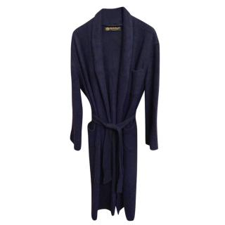Loro Piana 100% Cashmere Navy Blue Dressing Gown size Large RRP �3500