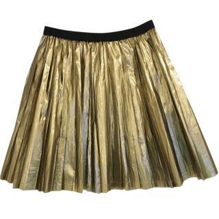 Bonpoint Girl's Gold Pleated Skirt