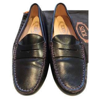 Tods leather loafer shoes