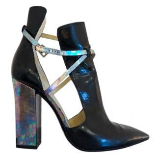 Pollini Cut-Out Holographic Boots