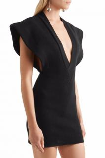 Jacquemus 'La Longue Carmague' Mercerised Cotton Black Dress