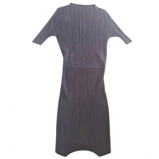 Pleats Please Issey Miyake brown dress
