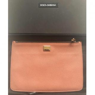 Dolce & Gabbana two sided leather pouch