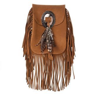 Saint Laurent Anita Bag W/ Feathers
