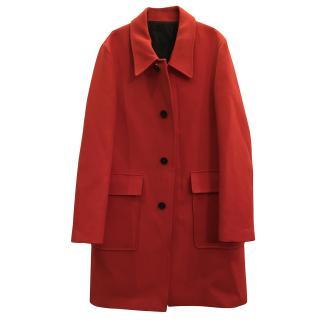 AMI Alexander Mattiussi straight-cut red wool coat
