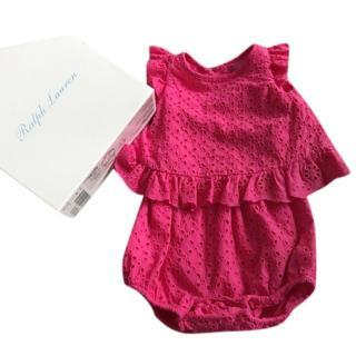 Ralph Lauren Newborn Romper Set