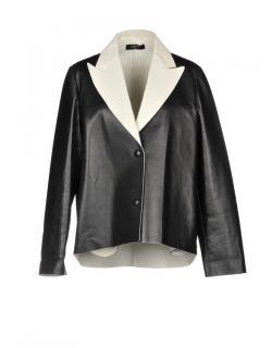 Lanvin Black & White Leather Jacket