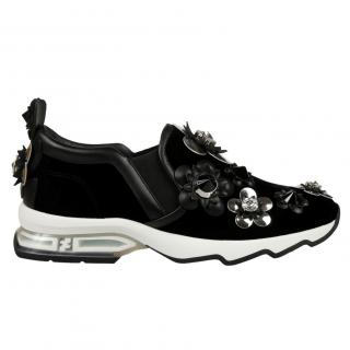 Fendi Flower Applique Sneakers