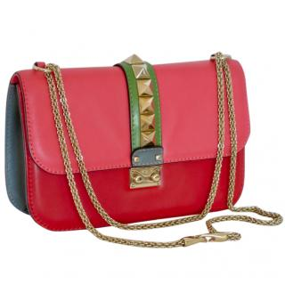 Valentino Rockstud colour-block leather cross-body bag