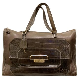 Anya Hindmarch�brown leather�tote bag