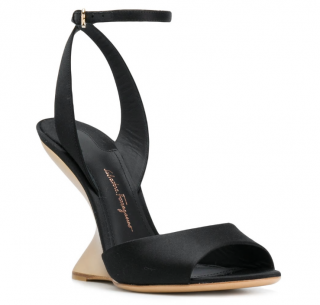 Salvatore Ferragamo Arsina sculpted heel peep toe shoes