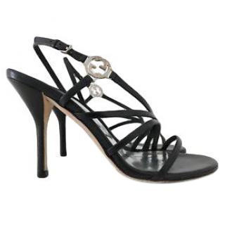 Gucci GG-plaque leather multi-strap sandals