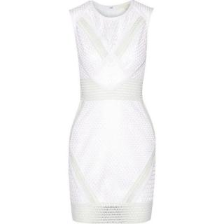 Jonathan Simkhai Corded mesh mini dress
