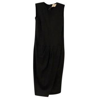 Love Moshchino wrap-over black stretch pencil dress