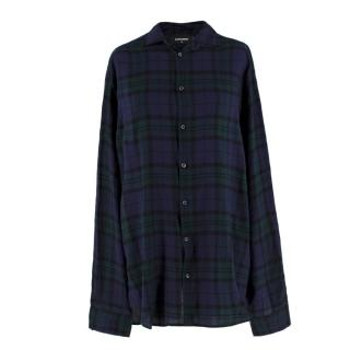 DSquared Checked Cotton-blend Shirt