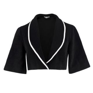 J.W. Anderson Black French Terry-Towelling Cropped Jacket