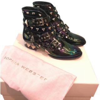 Sophia Webster Riko Studded Biker Boots
