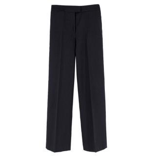 Joseph Wool & Cashmere-blend Pinstripe Wide Leg Trousers