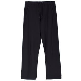 Y3 Adidas x Yohji Yamamoto classic black track pants
