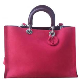 Dior Diorissimo limited edition large suede bag