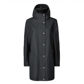Hunter dark-slate rubberised hooded coat