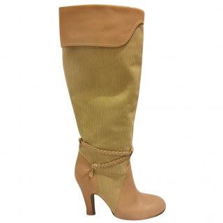 Marc Jacobs leather & corduroy boots